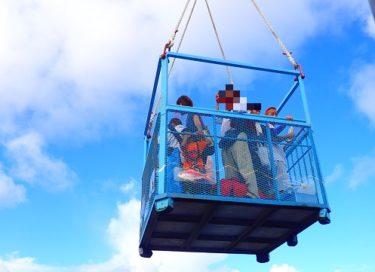 【南大東島⑤】クレーンで吊られ、憧れのゴンドラ上陸を体験!~南大東島旅行記~(南大東島上陸の章)