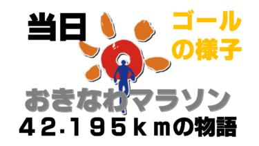 【おきなわマラソン⑤】ついに本物のゴール!沖縄で初めてのフルマラソンにチャレンジし完走した旅ランブログ~42.195kmの物語~(大会当日・ゴールの感じの章)