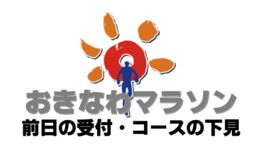 【おきなわマラソン②】旅ランは受付から!コースの下見でバッチリ予習しよう!~旅ランブログ~(大会前日の章)