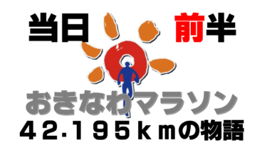 【おきなわマラソン③】号砲!沖縄で初めてのフルマラソンにチャレンジした旅ランブログ~42.195kmの物語~(大会当日・前半の章)